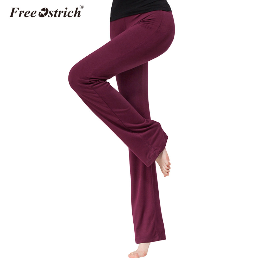 Free Ostrich Leggings Women Straight 2019 Loose Spring Summer Workout Pants Casual Fitness Leggings Solid A2935