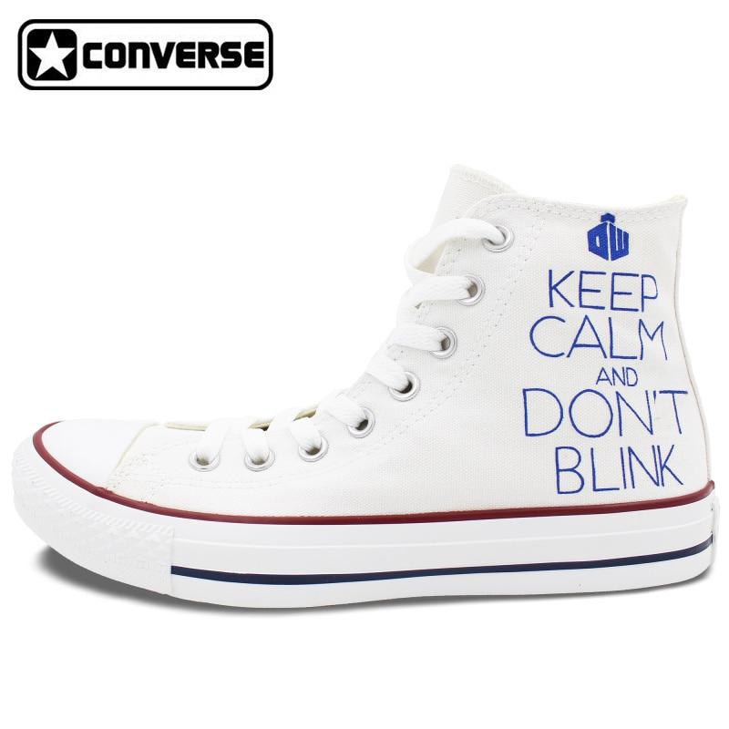 Women font b Men b font White Converse Chuck Taylor font b Shoes b font Hand