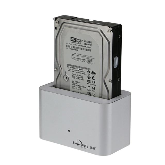 1-bay aluminio usb3.0 caja de disco duro 2.5 ''caso 3.5 pulgadas caja externa caja hdd portátil de 4 tb hdd docking estación HD01U3