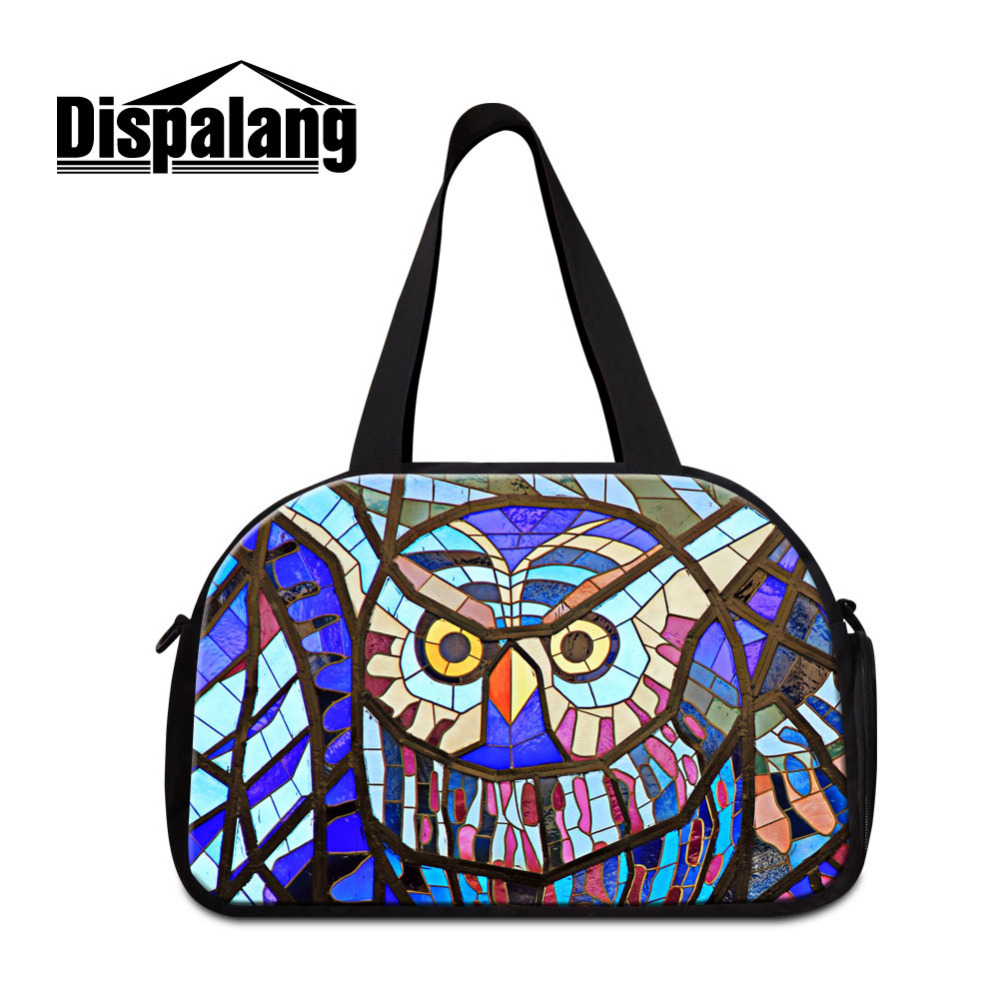 Dispalagn Owl Large Capacity Men Travel Bags Women Weekend Travel Duffle Tote Bags Crossbody Bag With independent Shoes Pocket