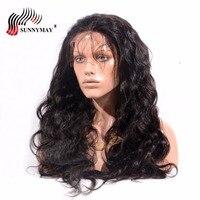 Sunnymay 200% плотность Синтетические волосы на кружеве человеческих волос парики объемная волна бразильского Виргинские волос спереди Кружева