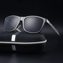 JIE.B Men Sunglasses Pilot Designer Sun glasses Aluminum Alloy Male Glasses Frame Polarized Lens Eyewear Gafas With Case