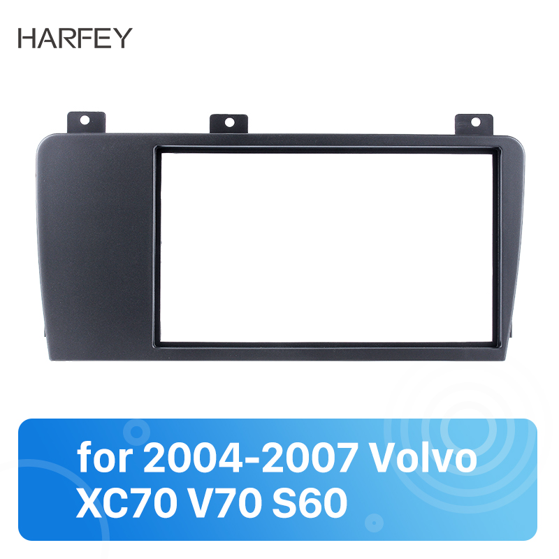 Harfey high quality Double Din Car Radio Fascia for 2004-2007 <font><b>Volvo</b></font> XC70 V70 <font><b>S60</b></font> Audio <font><b>Frame</b></font> Trim Surround CD Dashboard Panel image