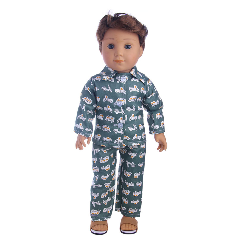2017 new boy's cute pajamas, which are suitable for 18 inch Logan boy doll, are the best playmates for children LG1153 vikram seth a suitable boy