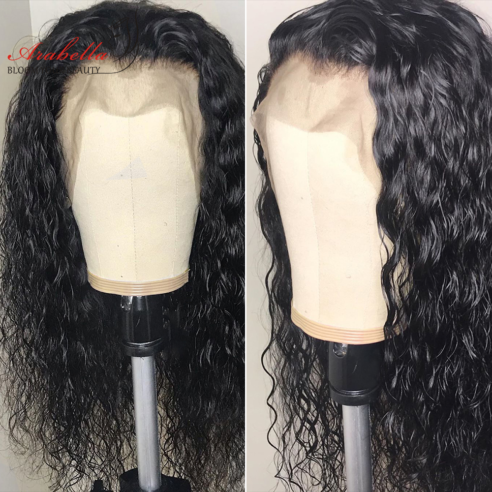 Brazilian 13*4 Lace Front Human Hair Wigs 210% Density Arabella Remy Water Wave Lace Front Wig Pre Plucked With Baby Hair Wig-in Human Hair Lace Wigs from Hair Extensions & Wigs    1