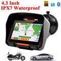 2016 Новая Версия 4.3 Дюймов 8 ГБ FM Водонепроницаемый Автомобиля Мотоцикла Велоспорт Bluetooth GPS Навигация + Бесплатное Обновление Карт наиболее Страны