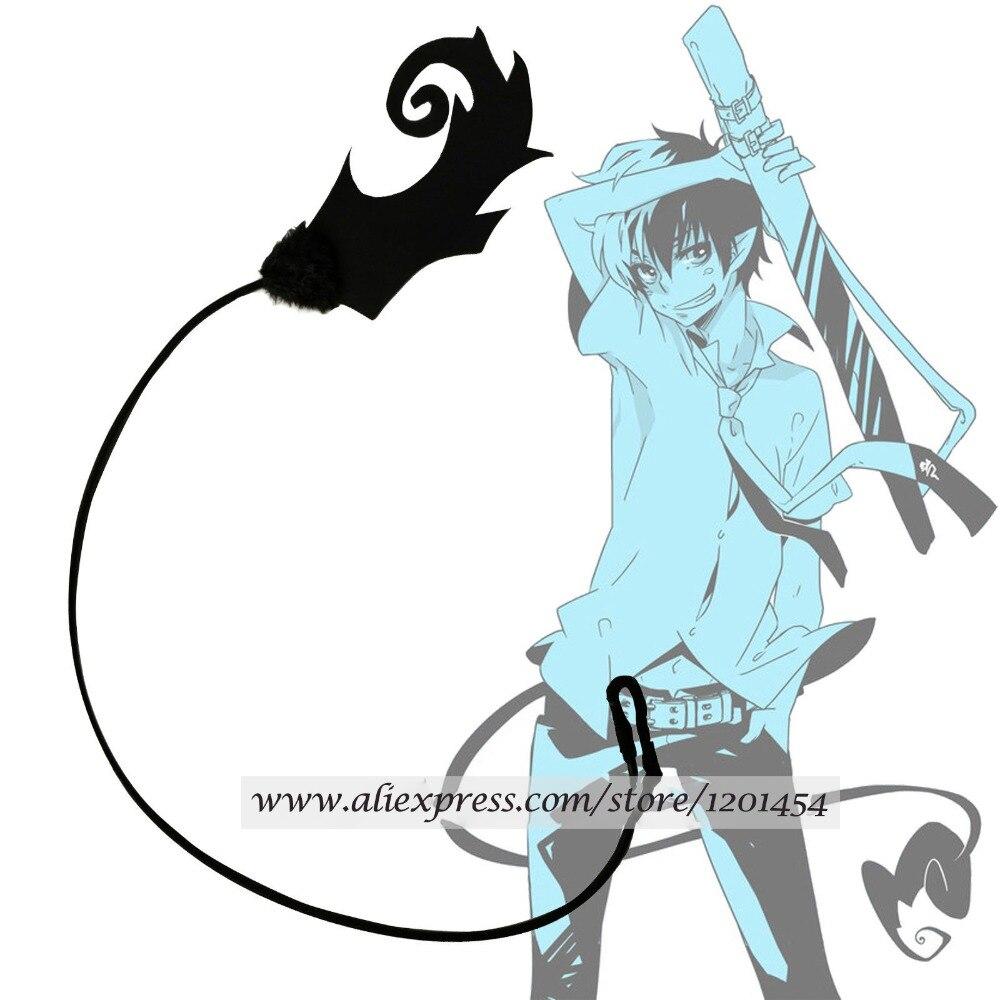 Ao no Azul Exorcista Okumura Rin Cauda Preto Azul Ver Fogo Acessórios De Cosplay Prop