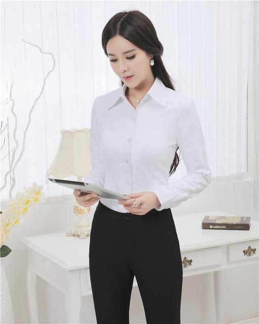 Formal uniforme profissional ternos blusa e calças 2015 outono trabalho de escritório desgaste terninhos calças Set