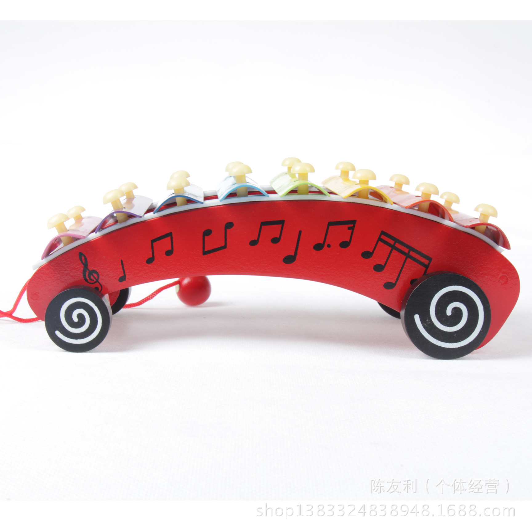 Wooden Musical Instruments Children Trailer Octave Hand Knock