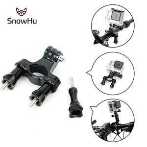 Image 2 - SnowHu pour Gopro accessoires vélo moto guidon tige de selle montage sur poteau trépied pour Go pro Hero 9 8 7 6 5 4 caméra yi GP01