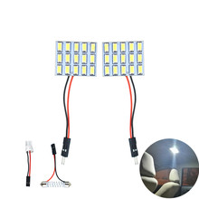 Auto Interior Domo LED Luz de mapa bombilla LED panel LED bulbo calcomanías para Peugeot 307, 207, 407, 206, 308 Renault clio Captur Megane 2 3(China)