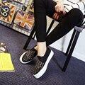 2017 ленивые женские туфли кожаные ботинки мокасины студентка хан издание холст обувь джокер сандалии