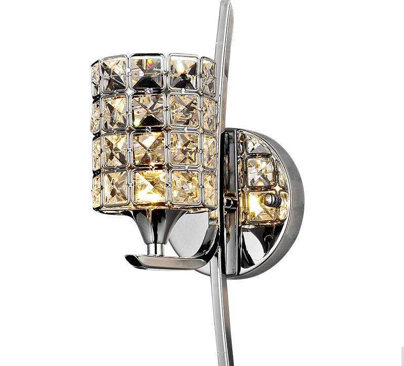 ФОТО Free ship modern Wall Lamp K9 Crystal Sconce G9 Hotel Bedroom Stairs Home Indoor Decoration Fixtures 120*H 400 mm