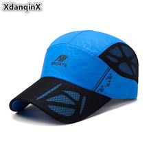 XdanqinX 2019 Summer New Style Mens Ventilate Baseball Caps Adjustable Size Sun Hat For Women Snapback Mesh Breathable Cap