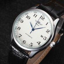 Winner Luxury Men Mechanical Watch Classic Date automatic Mechanical Watch Self-Winding Skeleton Black Leather Strap Wrist Watch