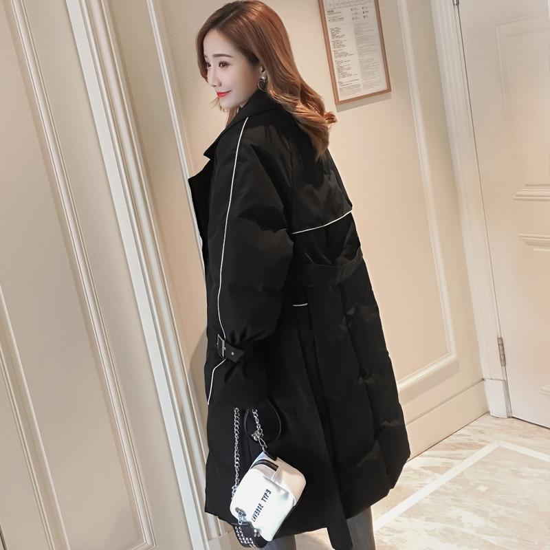 Tendance Femmes D'hiver Vêtements Coton Section Pour Veste Nouvelle Femelle Parka Manteau X89 Longue Vers 2018 Black Survêtement Le Bas Mode khaki npXxAZA