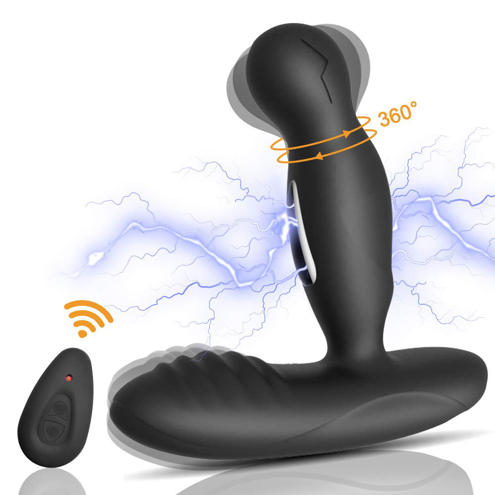 Electric Shock Pulse Prostate Massage Vibrator <font><b>Sex</b></font> <font><b>Toys</b></font> For Men Gay <font><b>16</b></font> Speeds Remote Control Vibrating Anal Plug Masturbators image
