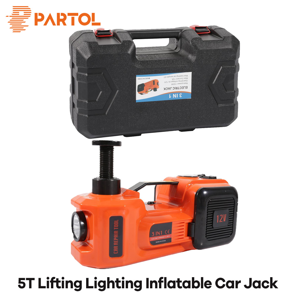 Partol 3 functions Car Lifting Lighting inflatable electric hydraulic jack 5 Ton 12V Multi-function wheel Maintenance Tool