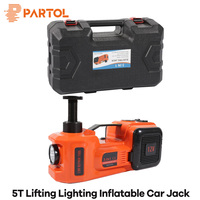 Partol 3 functions Car Lifting Lighting inflatable electric hydraulic jack 5 Ton 12V Multi function wheel Maintenance Tool