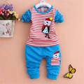 Hot!!!!!In the fall of the new boy girl cartoon cute two-piece suit clothes children's cotton