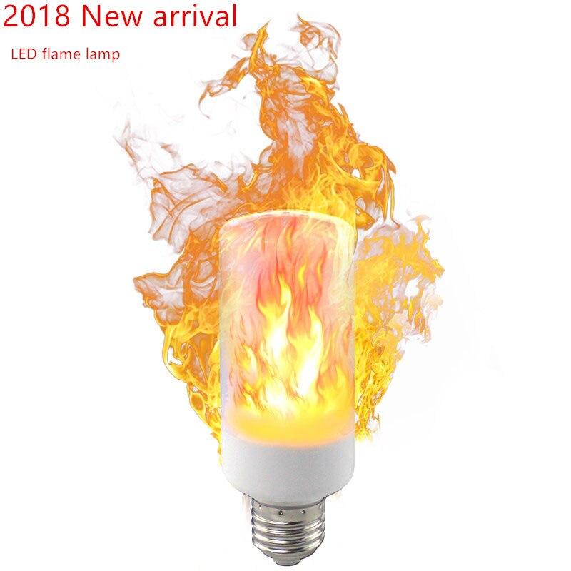 2018 nueva LED llama novedad iluminación SMD2835 fuego lámpara 5 w 9 W AC85-265V 1400-1600 K tercera modo simulación llama dinámica de luz