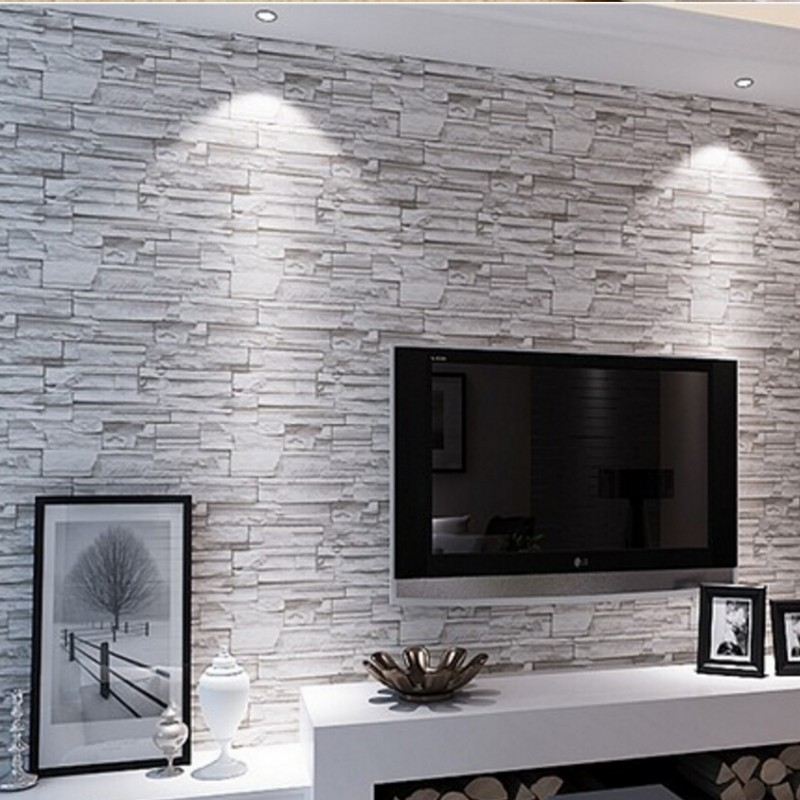 Buy beibehang stone brick wall 3d for Wallpaper roll for walls