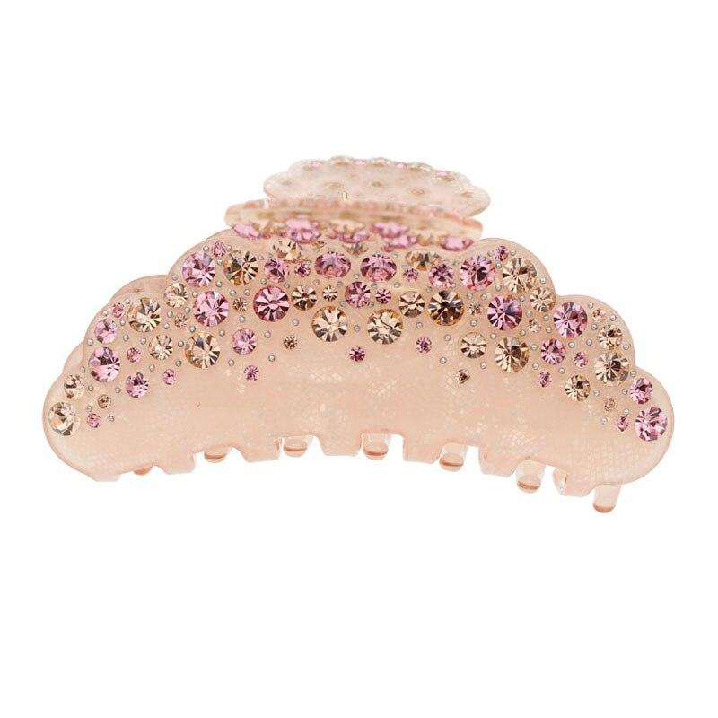 Big Hair Claw Rhinestone Acetate Hair Clip Ornament Crab Claw Jaw Hair Jewelry Accessory for Women Girl Tiara Wedding Party Prom все цены