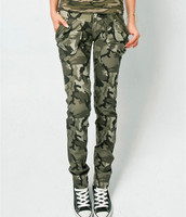 Camo Pants For Women Military Army Skinny Camouflage 100 Cotton Elastic Pencil Pants Women S Casual