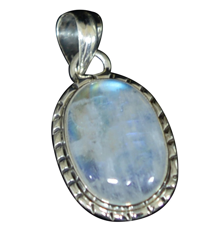 цена Lovegem Nature Rainbow Moonstone Pendant 925 Sterling Silver , 32 mm, AP4330