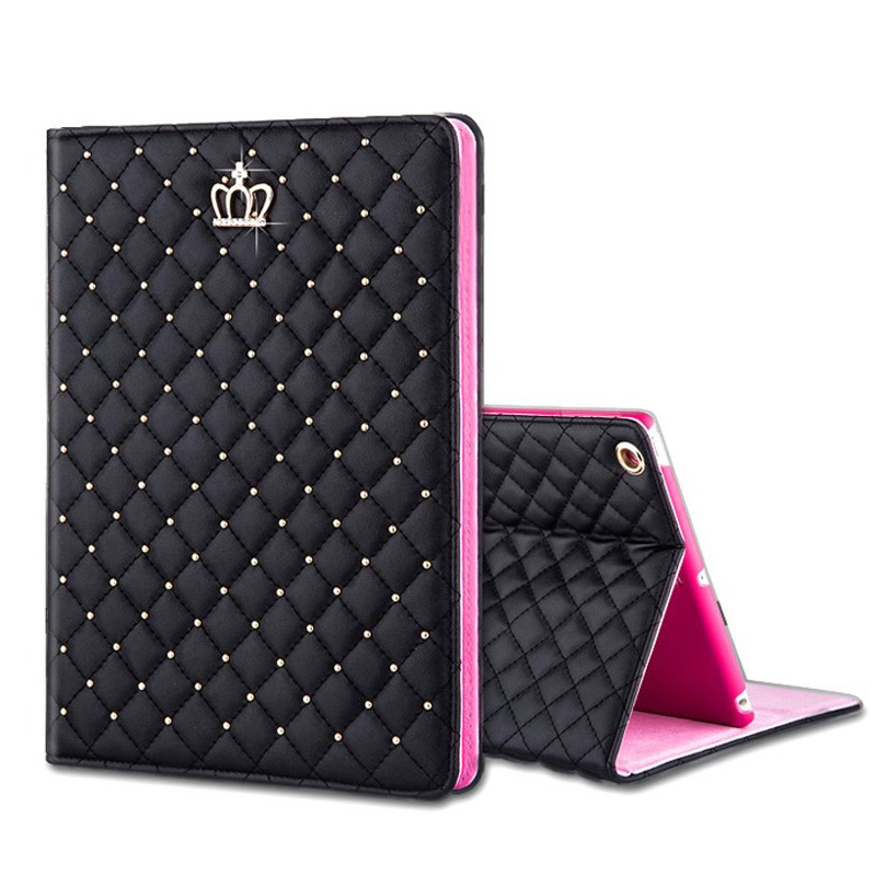 + Gratis Film Luxury Tablets Väska för Funda iPad 2/3/4 Mini1 / 2/3/4 Air1 / 2 Nya iPad 9.7 Coque Cover PU Ultra Tunna Väska Para House