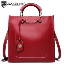 genuine leather bag ZOOLER 2017 woman leather handbag cowhide bag shoulder bags stylish hot decorate solid bolsa feminina #6988