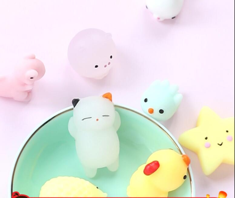 Купить с кэшбэком Mini Squishy Soft Cute Color Antistress Ball Mochi Abreact Sticky Relief Eliminate Pets Funny Stress Squishies Kids Squeeze Toys