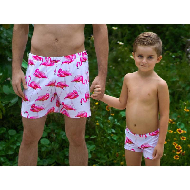 22fab075e9 ... Women Men Kid Family Matching Girl Boy Flamingo Swimwear Swimsuit One  Piece Bikini Monokini Pants Trunks ...