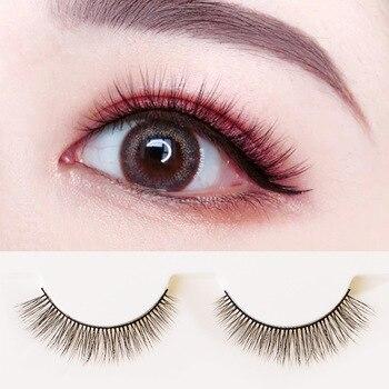 YOKPN Faux 3D Stereo Multilayer False Eyelashes 3 Pairs Eye Lashes Nude Makeup Natural Fake Eyelash Quality Fibers Short Lashes