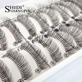 Top 10 Pairs Natural Wispy Long False Eyelashes lashes Extension Messy Handmade Eye Makeup Cross Curved Fake Eye Lash Makeup Kit