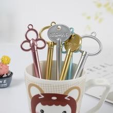 100 adet anahtar nötr jel kalem sevimli yaratıcı Retro kırtasiye ofis malzemeleri küçük hediyeler öğrenciler için Kawaii okul malzemeleri