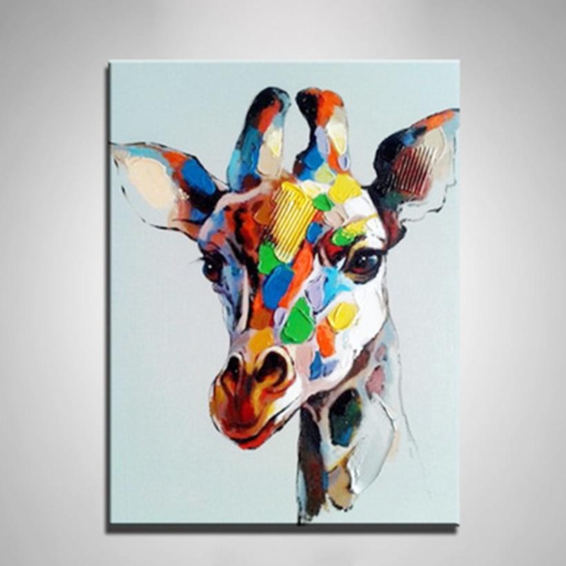 Pas de cadre Animal peinture à l'huile le cerf peinture pour enfants coloriage peintures sur toile dessin œuvre mur Art photo décor à la maison