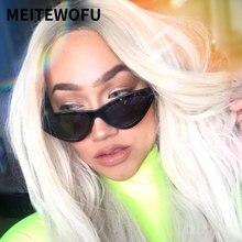 d0c223d558 MEITEWOFU 2019 nueva moda lindo Sexy señoras de ojo de gato gafas de sol  mujer marca