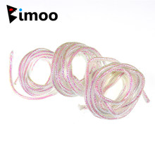 Bimoo 2m/pack 3mm 4mm 5mm Pearl E-Z Minnow Maylor Braid Tube Fly Tying Minnow Body Durable Flash Fly Fishing Material(China)