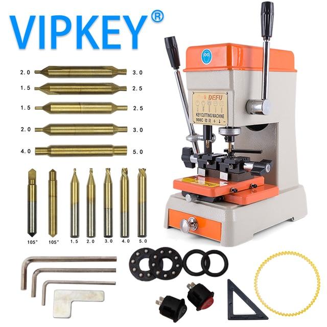 Máquina chave vertical da picareta do fechamento da máquina de corte da chave de defu 998c duplicando a máquina 220 v 110 v para fazer ferramentas do serralheiro das chaves