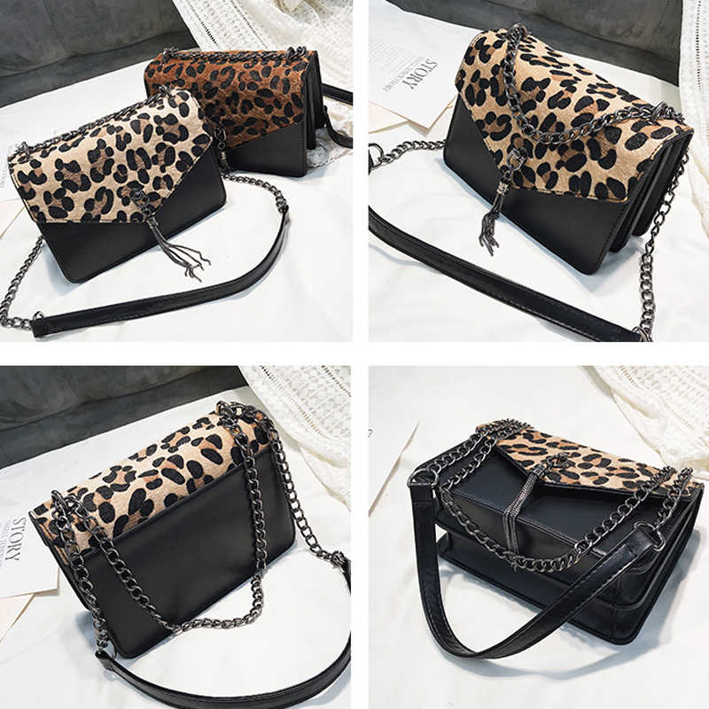 a9ededa69a ... Leopard Fashion Trendy Chains Bag Female Famous Brands luxury handbag  Women s purse crossbody messenger shoulder bags ...