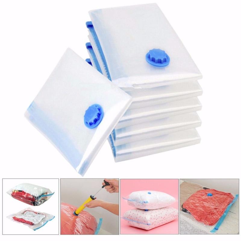 5 x 50x70cm vacuum compression bags  storage space compressed Transparent Bag