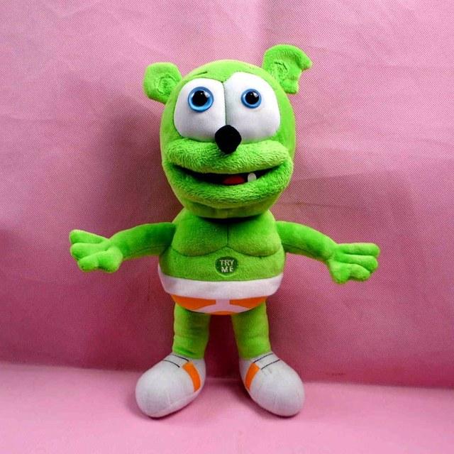 29900d53b Free shipping Hot Sale 30cm Gummy Bear Voice Pet Funny Lovely Toys Sounding  Plush Toy Best