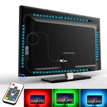 led light strip rgb tape smd 5050 5v usb ledstrip for tv backlight lights music control Background Lighting flexible neon tira
