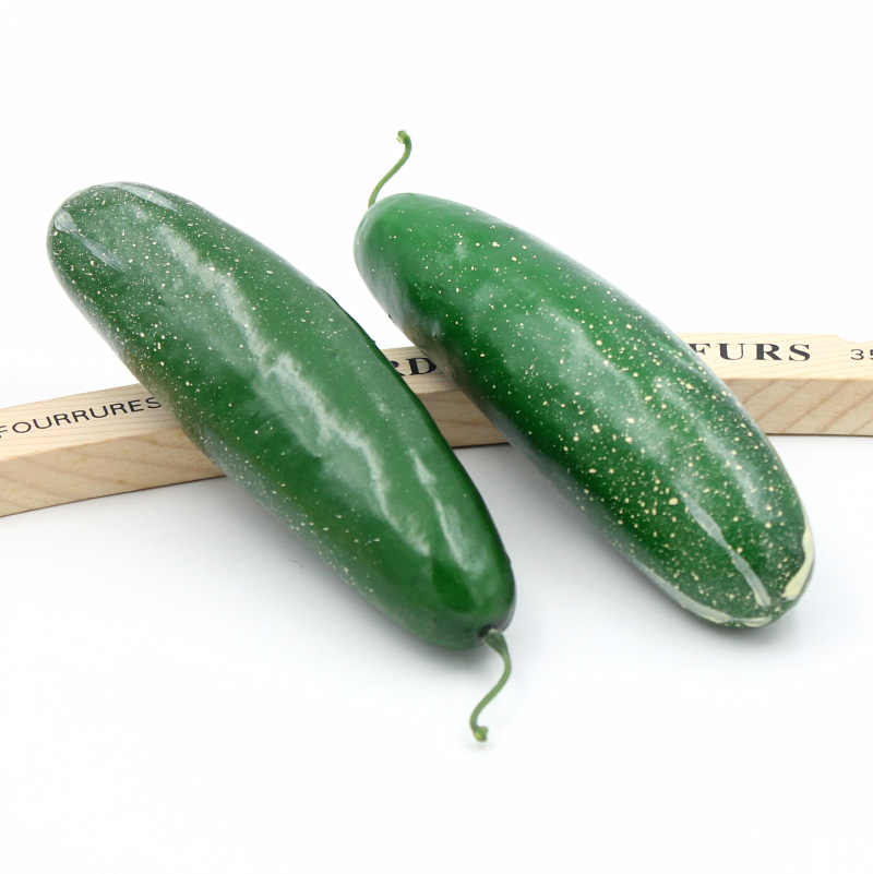 2PCS 6.5CM Artificial Simulation Towel Gourd Vegetables Kindergarten Garden Family Kitchen Decoration Handwork DIY Fruit
