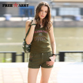 Army Green Women Shorts Mini Shorts Summer Women Loose Cton Casual Pantalon Femme Camouflage Shorts HOT GK-9502A P32