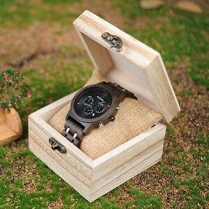 Image 4 - BOBO BIRD ساعة خشبية للرجال relogio masculino الخشب معدن حزام كرونوغراف تاريخ ساعات كوارتز ساعات فاخرة متعددة الاستخدامات WP19