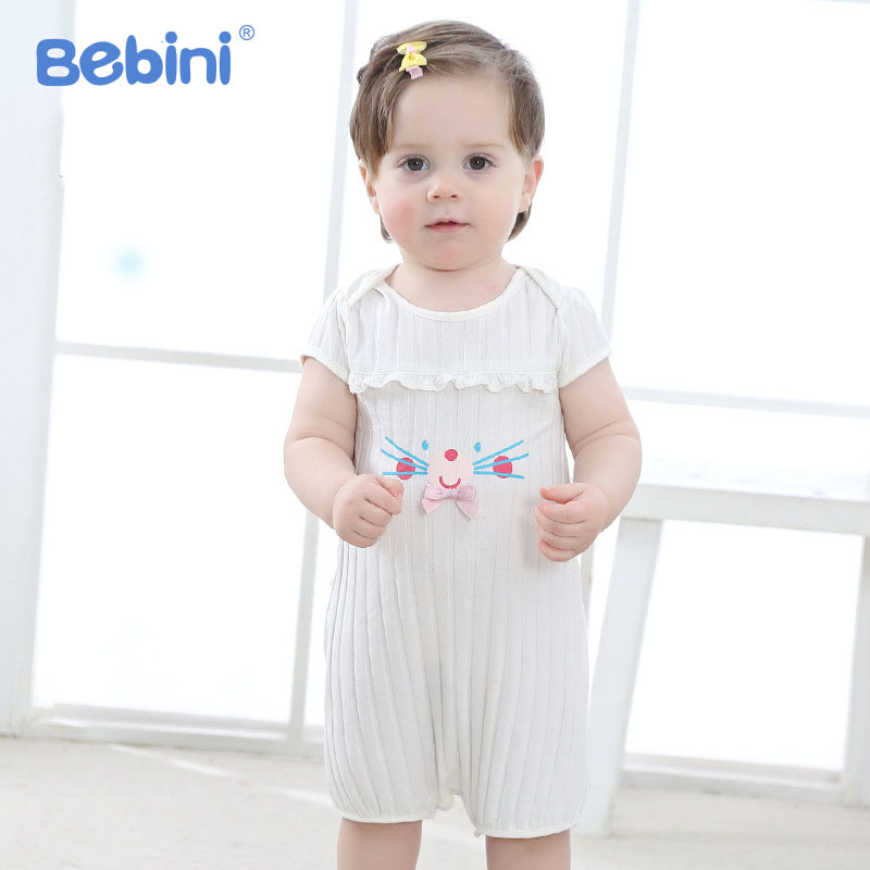 2018 Infant Girls Clothing Baby Rompers Cute Newborn Baby Jumpsuits Roupas Bebe Short Sleeve Baby Girl Clothes