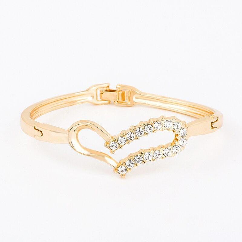 Creux Noeud Zircon Bracelet Bangle mariage mode bijoux 3 couleurs