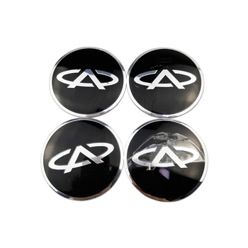 Creative Car Hub Center Badge Stickers Auto Parts Decoration for Chery Fulwin Arrizo QQ Tiggo 3 5 T11 A1 A3 A5 Amulet M11 Fora image
